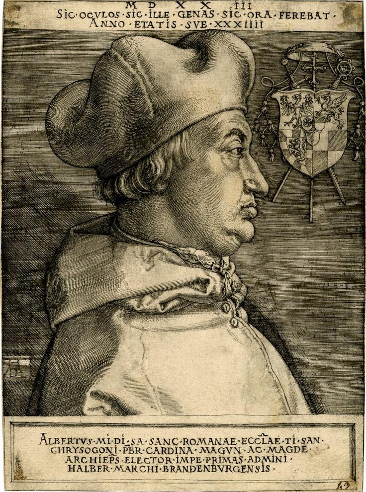 Durer - ardinal Albrecht of Brandenburg; or the Great Cardinal1523