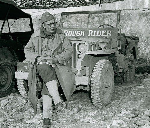 Ted Roosevelt was one of the first soldiers off his landing craft as he led the U.S. 4th Infantry Division's 8th Infantry Regiment and 70th Tank Battalion landing at Utah Beach on D-Day. Like his father, Teddy Roosevelt, he was awarded the Medal of Honor.  They are one of only two father-son recipients of the MOH. (The other father-son combo is Arthur MacArthur and Douglas MacArthur)
