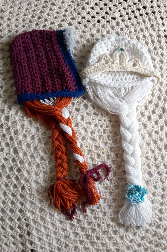 Knitting Pattern For Elsa Hat : Anna and Elsa Inspired Hats