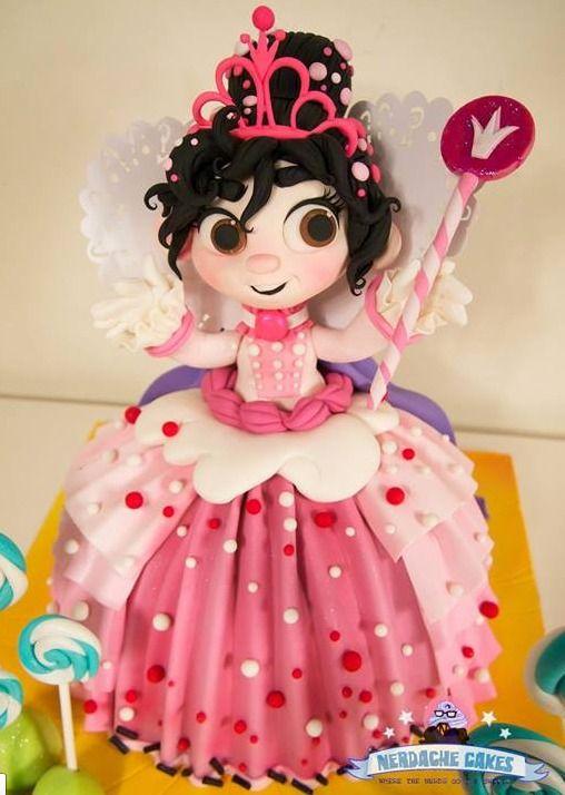 Princess Vanellope Von Schweets Wreck it Ralph cake