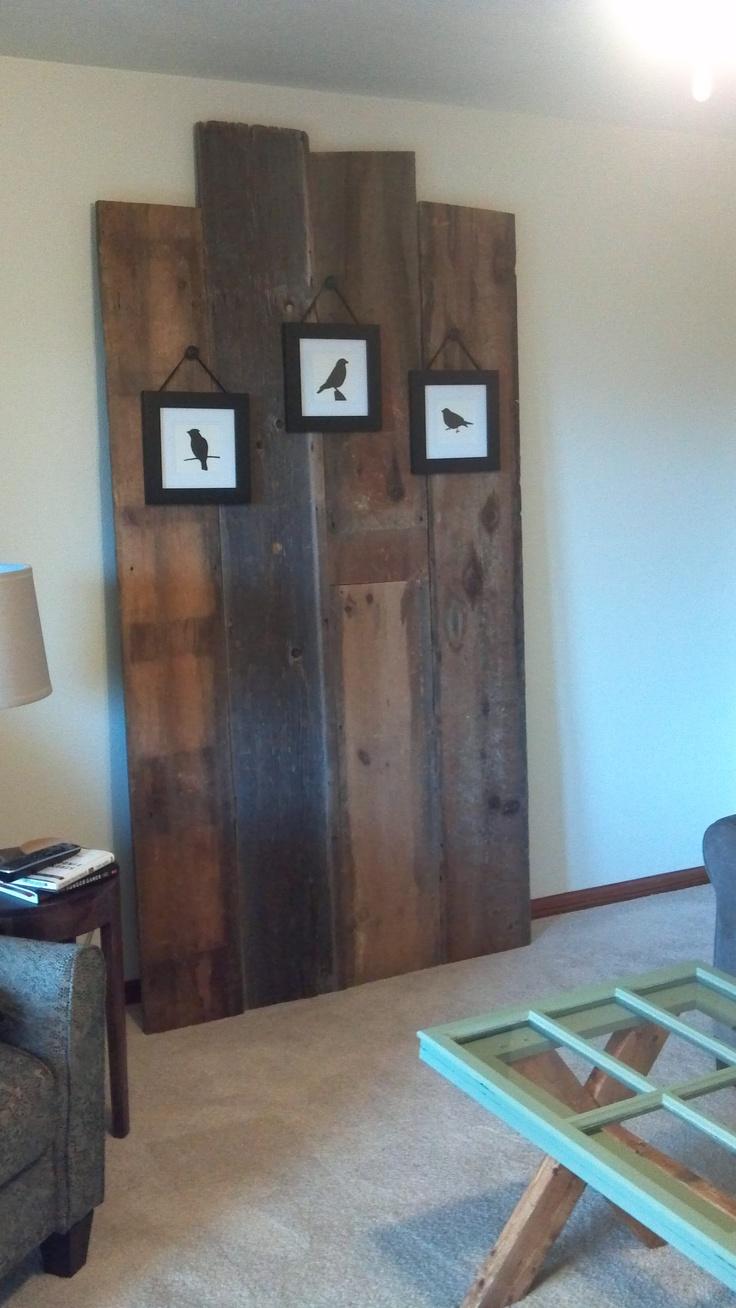 Barn wood wall living room pinterest for Wood wall living room