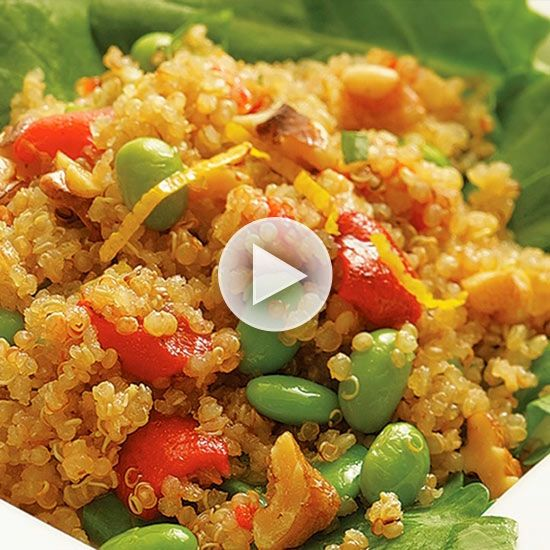 Watch Easy Quinoa Salad Recipe with Edamame in the EatingWell Video