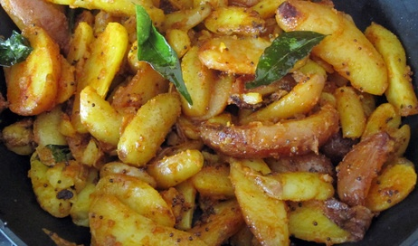Julie Sahni's Hot Curry Leaf Potatoes--made these tonight and they ...