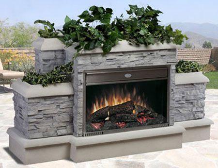 Outdoor Electric Fireplace Garden Pinterest
