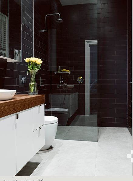 Wonderful The Amazing Of White Brick Wall Tiles And Antique Black Vanity Cabinet For Scandinavian Bathroom Ideas Digital Above Is A Part Of The Elegant Colors Of Scandinavian Bathroom Vanity Cabinets Article, Which Is Graded Within Bathroom So