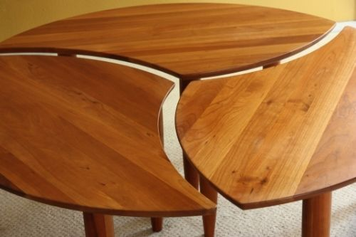 Set 3 Danish Ying Yang Coffee End Table Mid Century Modern Eames Hans