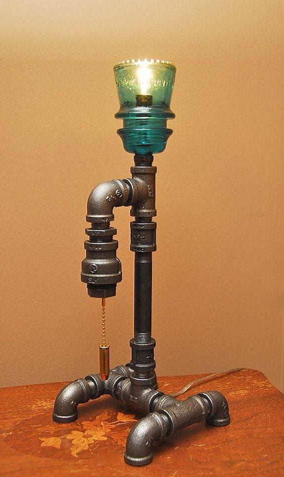 44 magnum industrial style pipe lamp. Black Bedroom Furniture Sets. Home Design Ideas