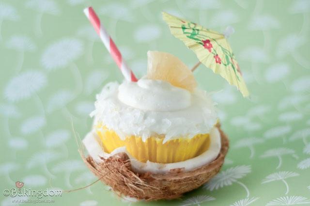 Pina Colada Cupcake | Entertaining/Parties | Pinterest