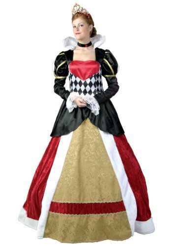 Womens Plus Queen of Hearts Costume 5X, It will be off with your