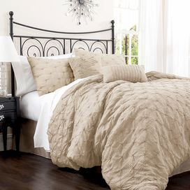Anabel Comforter Set in Taupe