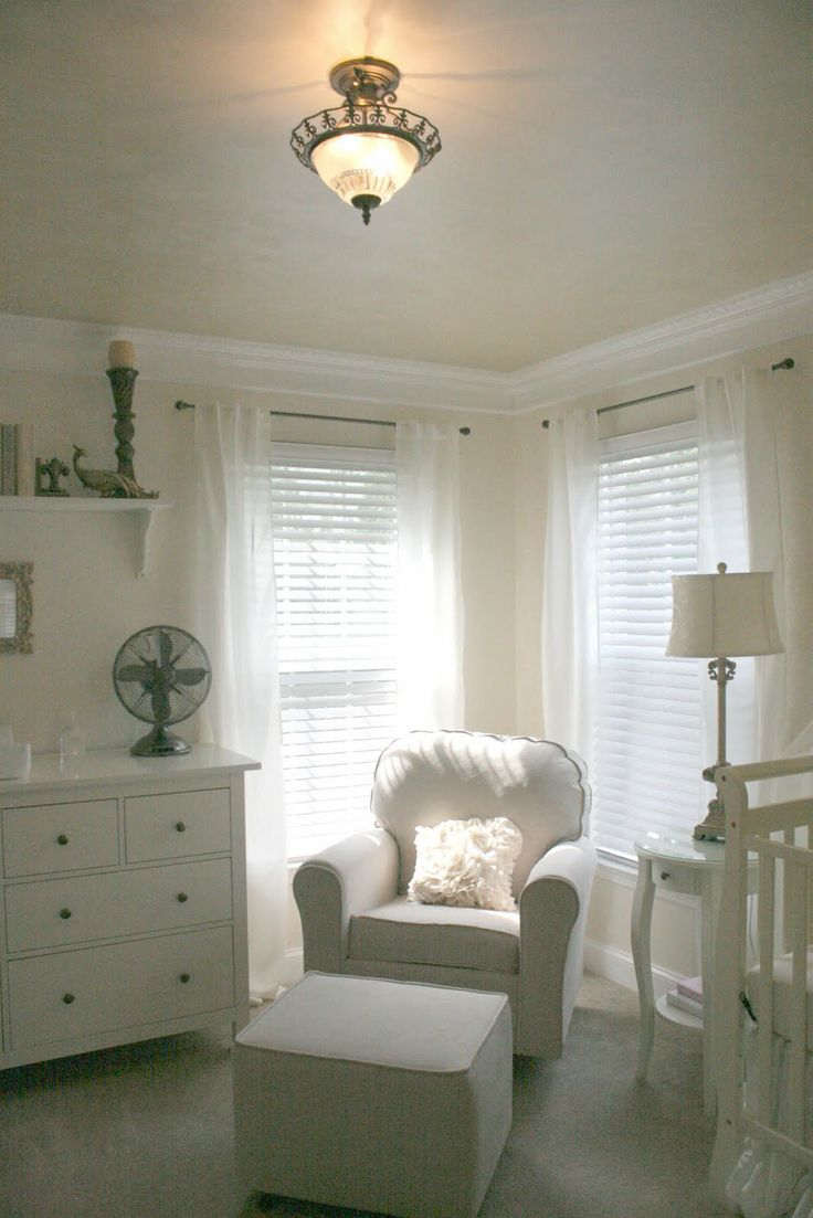 Neutral nursery ikea : Again, is it the white and green? flowy curtains? but for a ...