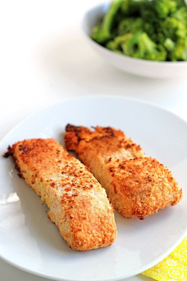 Connection Recipe: Coconut Crusted Salmon | Skinny Mom | Where Moms ...