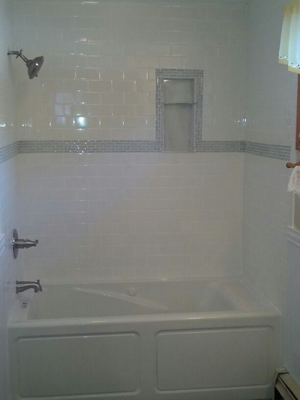 Tile tub surround home pinterest for Tub tile surround ideas