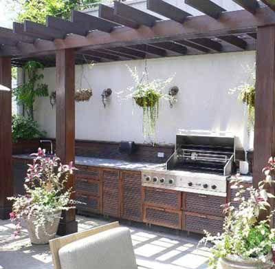 Summer kitchen outdoor rooms modern backyard ideas for Outdoor summer kitchen grills