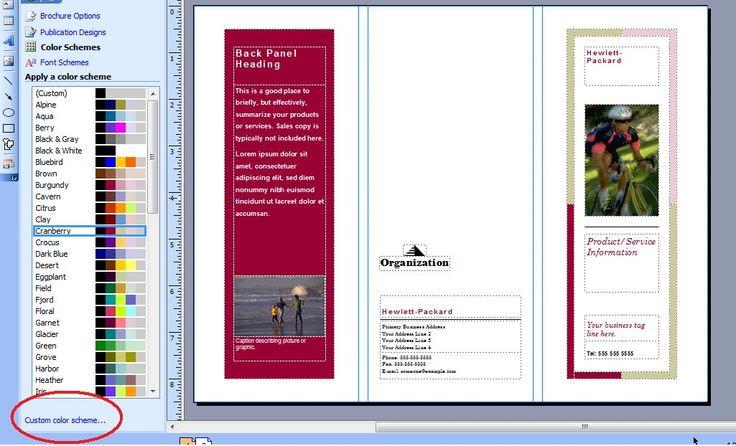 Publisher Brochure Templates Trattorialeondoro