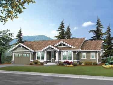 Charming Craftsman With Spacious Interior (HWBDO14538) | Craftsman House Plan from BuilderHousePlans.com