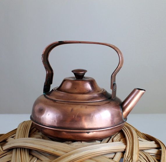 1930s Small Copper Kettle Kitchen Home Decor by gogovintage, $28 00