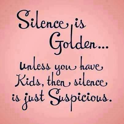 Quiet with a toddler = suspicious! #funny #mom #tootrue