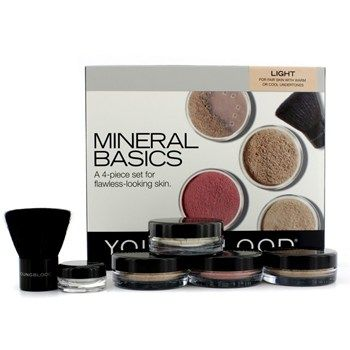 Youngblood Mineral Makeup on Youngblood   Mineral Basics Set    Light  2 X Natural Mineral