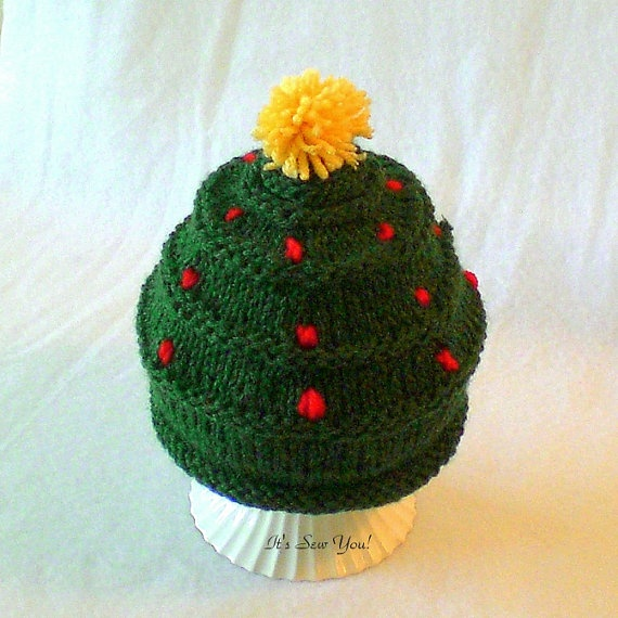 Knitted Christmas Tree Patterns : baby christmas tree hat. Knitting Pinterest