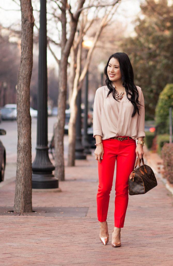 Red Pants Outfits Women  Wonderful Green Red Pants Outfits Women Inspirational U2013 Playzoa.com