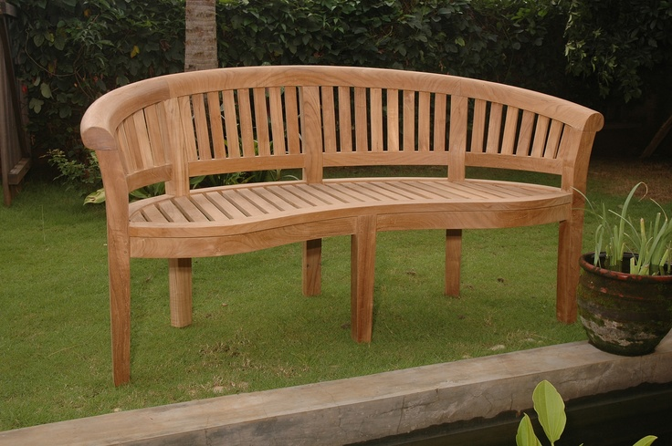 Curved Wooden Bench Benches Pinterest