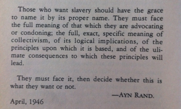 anthem by ayn rand thesis
