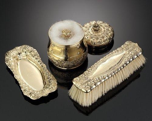 Тиффани серебряные позолоченные декоратором