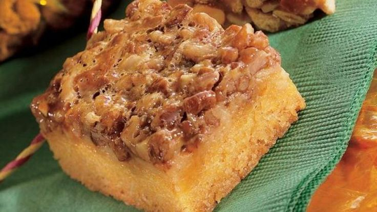 Toffee Squares With Toasted Pecans Recipe from Grandmother's Kitchen
