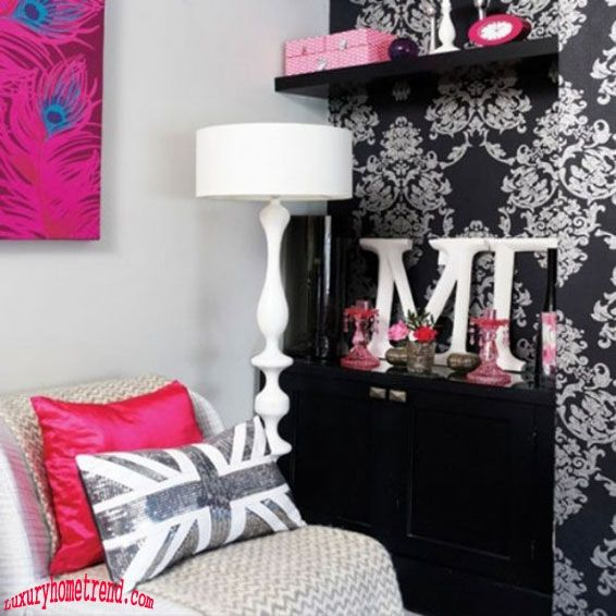 Pink-and-Black-girl-room-02 by Selena Mini