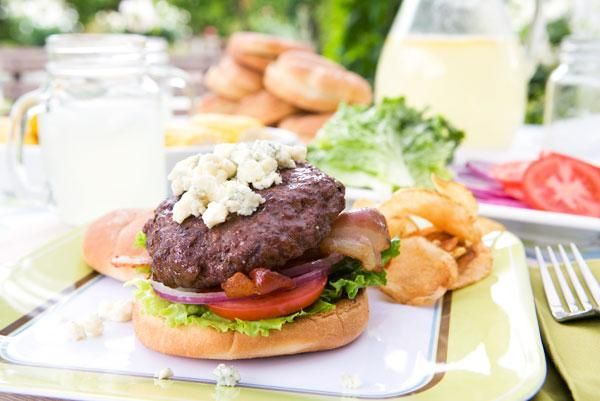 ... good burger? Blue Cheese & Bacon Burgers | Nugget Market Recipes