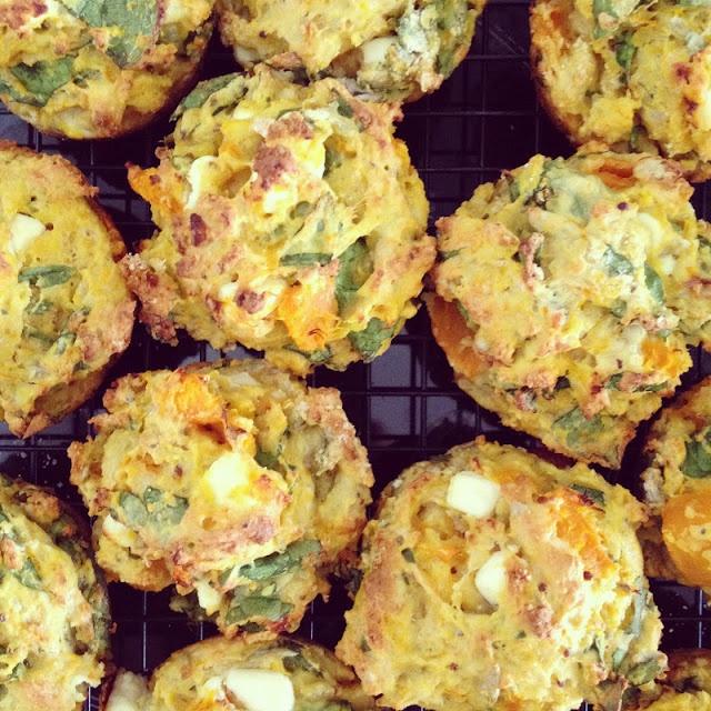 Pumpkin and feta muffins. Weekend i think!