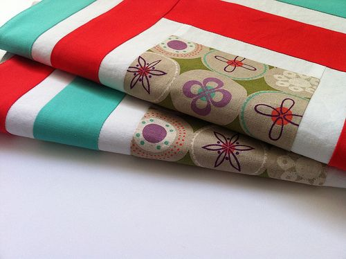 Log cabin napkins