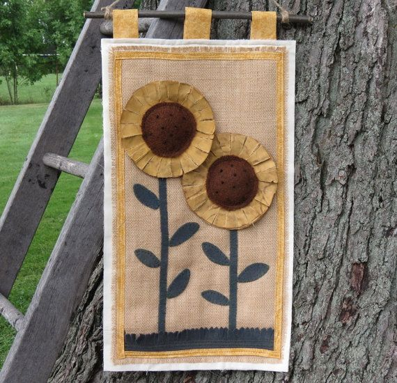 Sunflower Meadow Wall Art  Wall Hanging quilt by scarecrowcabin, $30.00