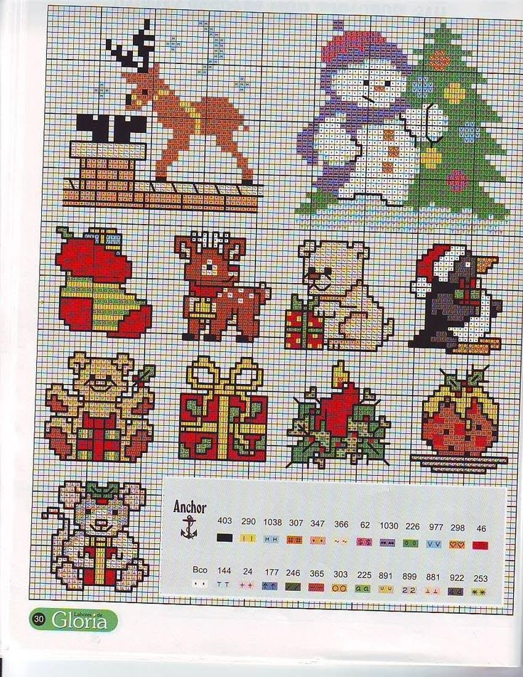 Схема вышивки крестом на подарок 165
