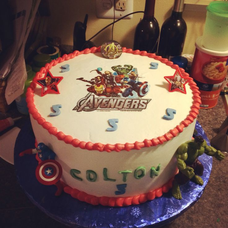 Avengers cake  Birthday party ideas  Pinterest
