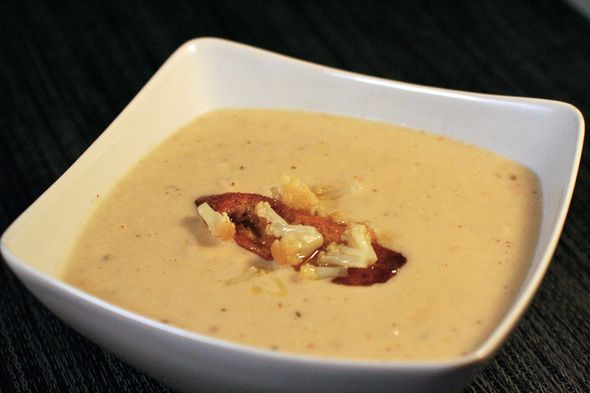 ... and it turned out amazing!! roasted cauliflower and cheddar soup