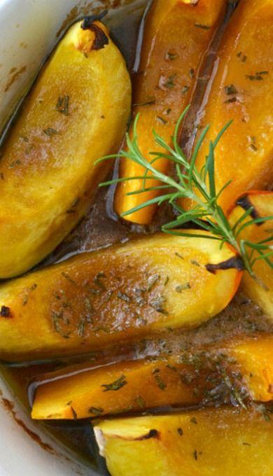 Sweet-Roasted Rosemary Acorn Squash Wedges Recipe — Dishmaps