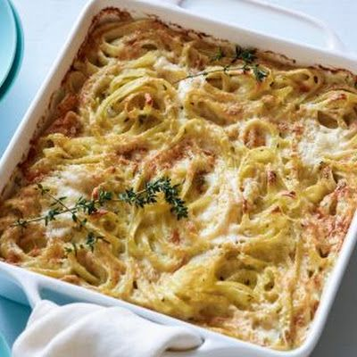 Creamy Baked Fettuccine with Asiago and Thyme Recipe - Key Ingredient