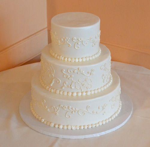 Brush Embroidery Fondant Wedding Cake  Fondant Wedding