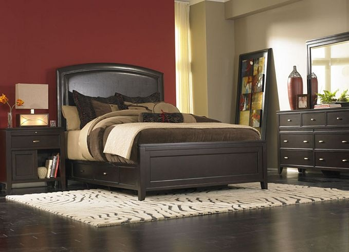 furniture midtown king panel bed bedroom furniture havertys