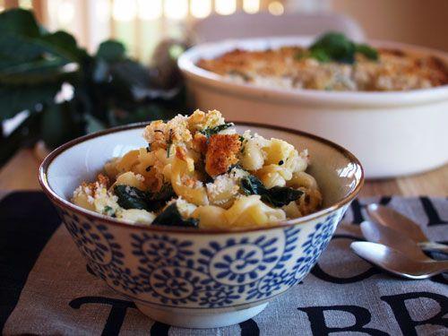 crunchy crust kale pasta bake fig amp cherry