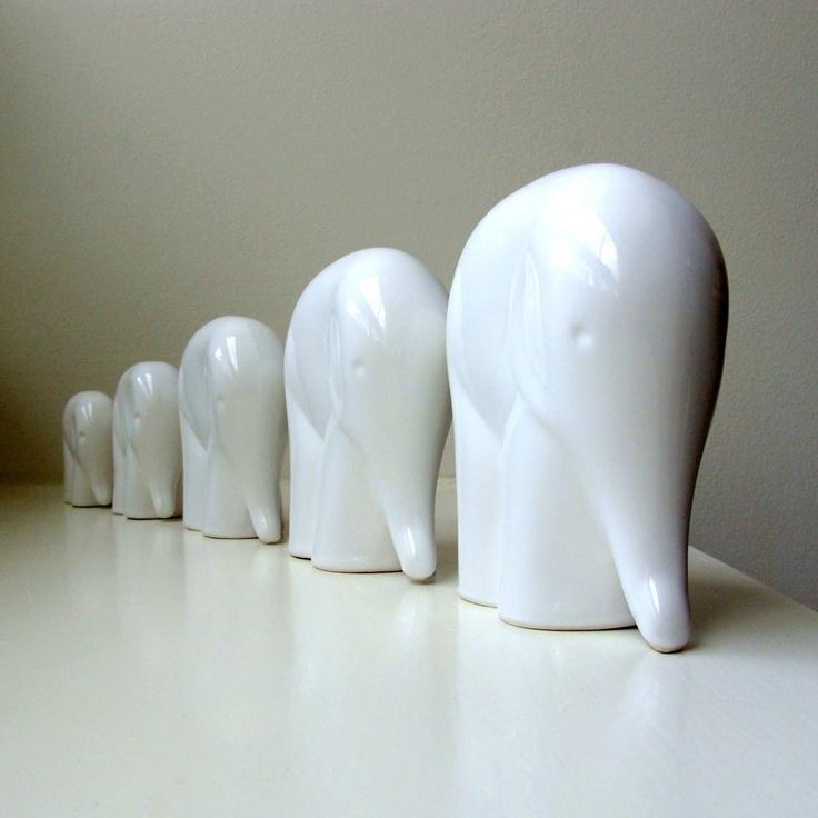 Reserved For Andrea Mid Century Modern White Porcelain