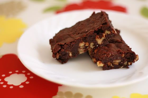 cocoa brownies with browned butter and walnuts-look amazing!