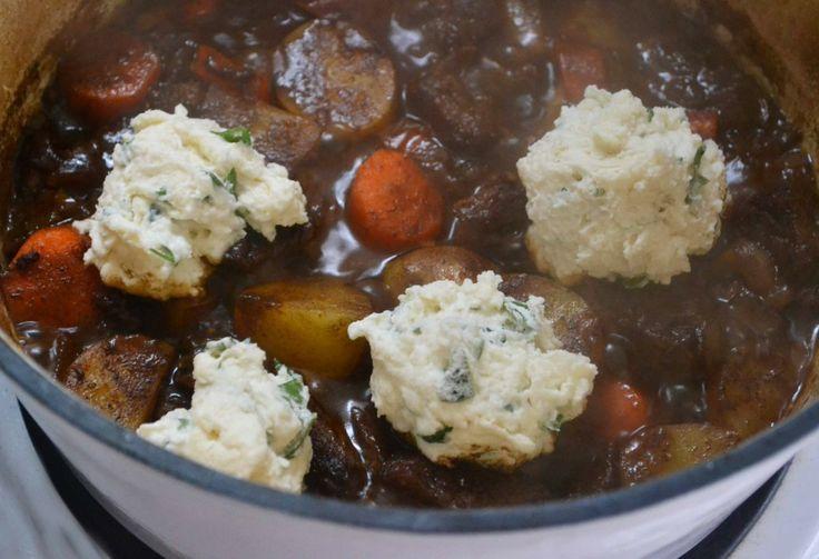 Irish stew with parsley dumplings