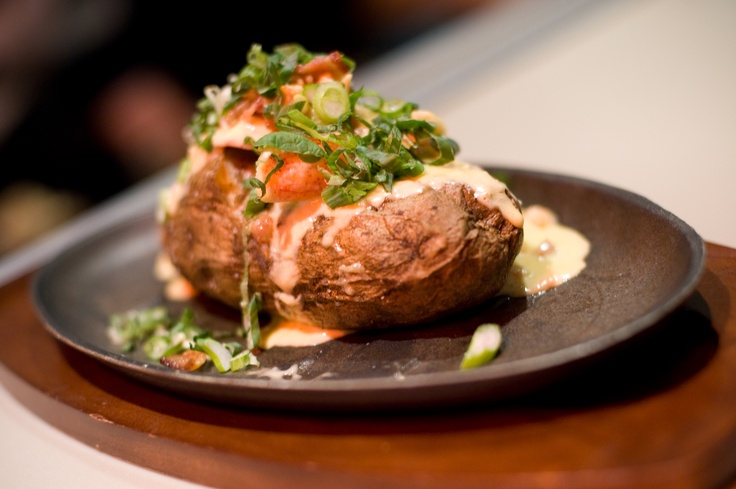 glowbal grill - baked potato | Yaletown // Food Finds | Pinterest