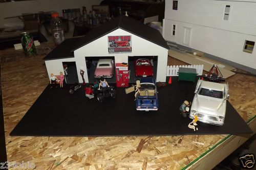1 24 1 25 diorama 2 car garage new design with work for 1 5 car garage