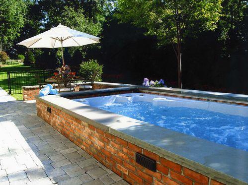 Garden tuin swimspa swim spa outdoor summer workout wellness swimspas pinterest - Outdoor decoratie zwembad ...