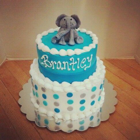 elephant baby shower cake cakes pinterest