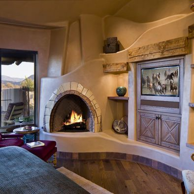 Beautiful southwest kiva fireplace for the ranch for Kiva fireplaces